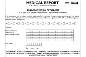Medical report form